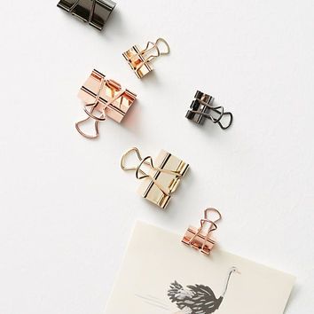 Poppin Metallic Binder Clip Set