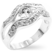 Silver Eye Cocktail Ring, size : 05