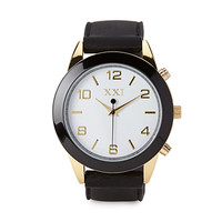 FOREVER 21 Rubber Analog Watch Black One