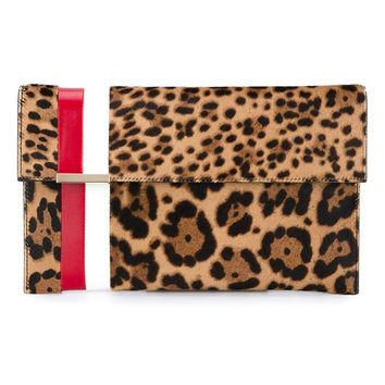 TOMASINI | Leopard Print Ponyskin Leather Clutch | Womenswear | Browns Fashion