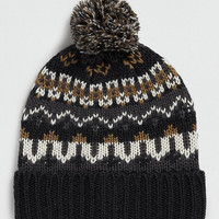 SELECTED HOMME PATTERNED BOBBLE HAT - New In- TOPMAN USA
