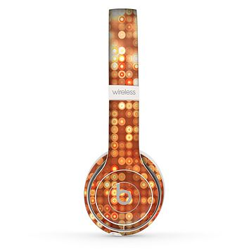 The Bright Orange Unfocused Circles Skin Set for the Beats by Dre Solo 2 Wireless Headphones