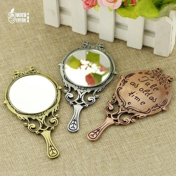 """New design Beauty and the beast jewelry very light mirror""""Tale As Old As Time""""logo roses mirror Women fashion jewelry gift"""