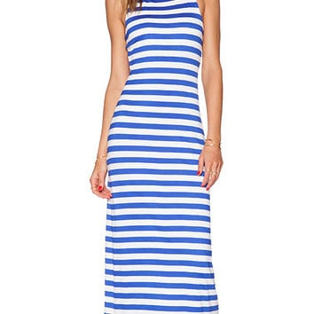 Susana Monaco Racer Maxi Dress in Blue