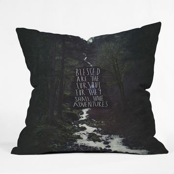 Leah Flores Curious Adventures Throw Pillow