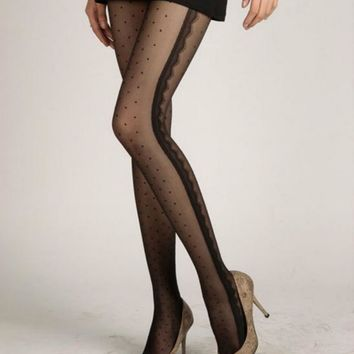 New 4 Styles Tights Women Fashion Stockings Black Pretty Peach Heart Style Pattern Jacquard Pantyhose Tights 0341