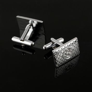 ZOSHI Men's Fashion Cuff Links Quality Copper Brass Material Novelty Functional Square Design Best Gift For Men Cufflinks