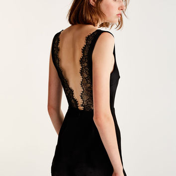 Jumpsuit with lace-trimmed back - Dungarees & Jumpsuits - Clothing - Woman - PULL&BEAR United Kingdom