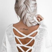 Crisscross-Back Sweater Top