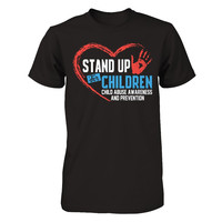 Stand Up For Children, Child Abuse Awareness And Prevention T-shirt