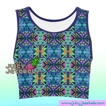 8cda7ecd75852 ETHNIC NEON Music Festival Clothing Rave Outfit Festival Crop To