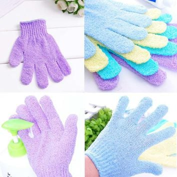 Bathroom Set Body Bath Gloves Shower Back Scrub Bath Glove Scrubber Exfoliating Body Sponge For Showering Wash Skin Spa Brush
