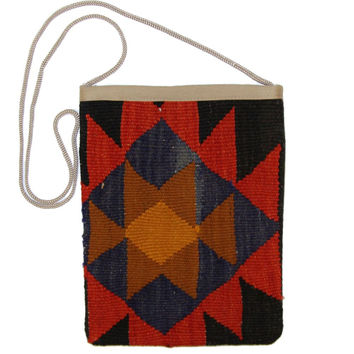 Marge Red/Black Diamond Pattern Kilim Bag