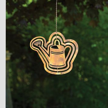 Cutout Watering Can Hanging Ornament - New item! Pre-order for August!