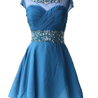 Short Prom Dress Short homecoming dress S005