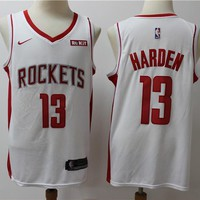 2019-2020 Houston Rockets 13 white James Harden Swingman Jersey