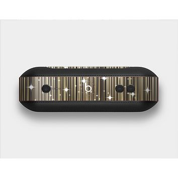 The Gold & White Shimmer Strips Skin Set for the Beats Pill Plus