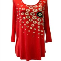 Georgia Women's Collegiate Top | UGA Women's Tunic Top | Georgia Bulldogs Women's Top