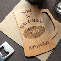 Fathers Day Gifts Wood Card - Unique Father's Day Greeting Cards - Beer Mug
