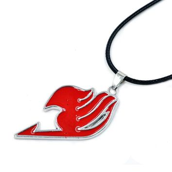 Hot Anime FAIRY TAIL Natsu Dragneel Guild Red Model Pendant Necklace Cosplay Props Gift Toy Collection