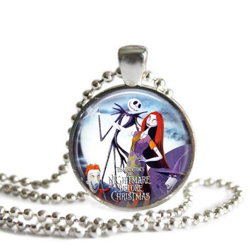 The Nightmare Before Christmas Jack and Sally Necklace