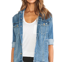 MOTHER The Cronie Jacket in Blue