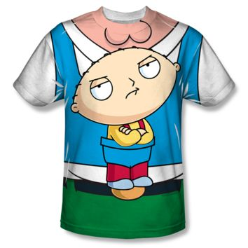 FAMILY GUY STEWIE CARRIER Youth Short Sleeve T-Shirt 100% Polyester