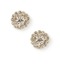Rhinestone Burst Stud Earrings