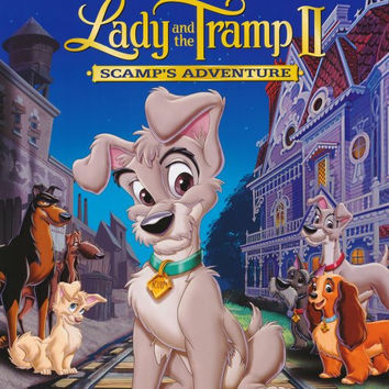 Lady and the Tramp 2 Scamps Adventure Movie Poster 27x40 Used Walt Disney