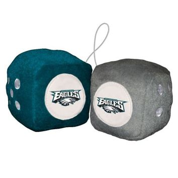 DCCKG8Q NFL Philadelphia Eagles Fuzzy Dice