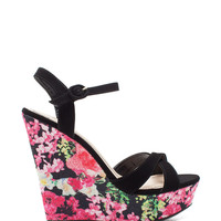 Eliza 64 Floral Punch Printed Wedge