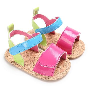 ROMIRUS Sandals for Girls Infant Summer Baby Girl Crib Shoes Soft Sole Newborn Sneakers Sandals