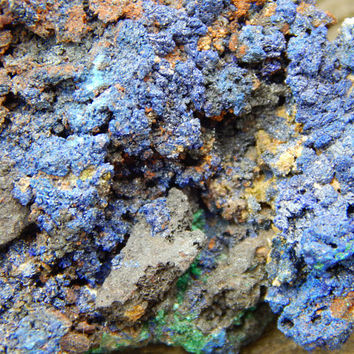 Genuine Rough AZURITE with MALACHITE Specimen Stone - Raw Azurite - Healing Crystals - Metaphysical Crystals - Reiki - Chakra Stones