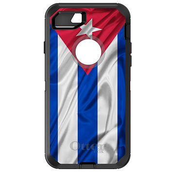 DistinctInk™ OtterBox Defender Series Case for Apple iPhone / Samsung Galaxy / Google Pixel - Red White Blue Cuban Flag Cuba