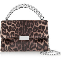 Stella McCartney - Soft Beckett medium leopard-print faux calf hair shoulder bag