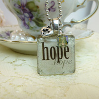 Project Hope Glass Tile Pendant Necklace  (Project Hope 2013)