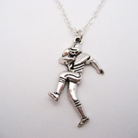 Football Player  Necklace Football Necklace  Sports Necklace Sports Jewelry Football  Jewelry Team Gift Ideas Football Player Gift