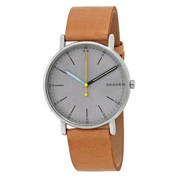 Skagen Signature Grey Dial Mens Watch SKW6373