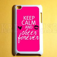 Ipod Touch 4 Case -  Keep calm and cheer forever Ipod 4G Touch Case, 4th Gen Ipod Touch Cases