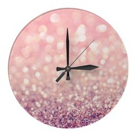 Blush Wall Clock from Zazzle.com