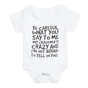 Unisex Newborn Baby Kids Rompers Clothes White Short Sleeve Letter Printed Romper Cotton Jumpsuit Summer Clothing