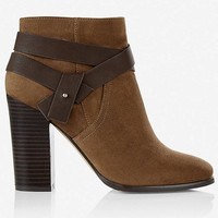 zip-up buckle ankle boot from EXPRESS