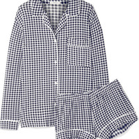 Eberjey - Bettina Sleep Chic gingham stretch-modal jersey pajama set