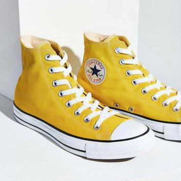 One-nice™ Converse All Star Sneakers for Unisex Hight tops sports Leisure Comfort Shoes Yellow