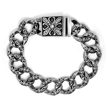 Awesome Great Deal Hot Sale Gift Shiny New Arrival Men Titanium Accessory Vintage Cross Stylish Ring Bracelet [6526712259]