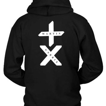 DCCKG72 Martin Garrix Title With Logo White Hoodie Two Sided