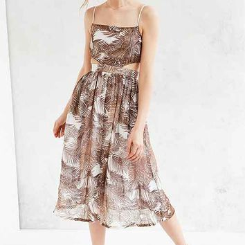 Objects Without Meaning For UO Palm Print Midi Dress