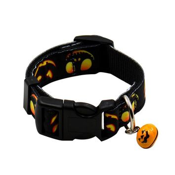 Pet Collars For Dogs New Design  Halloween Festival Nylon Collars With Bells Pet Decorations