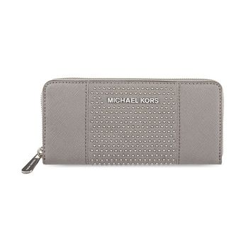 Michael Kors Zip Around Continental Micro Stud Wallet