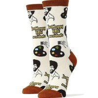 Bob Ross Happy Little Accidents Socks (Women's)